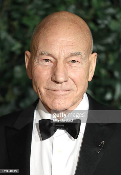 Patrick Stewart attends The London Evening Standard Theatre Awards at The Old Vic Theatre on November 13 2016 in London England
