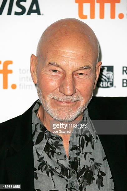 Patrick Stewart attends the premieres Festival 'Green Room' and 'The Chickening' at the 2015 Toronto International Film Festival at Ryerson Theatre...