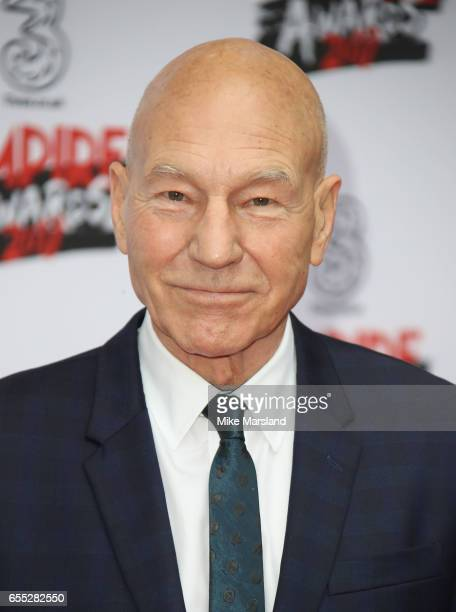 Patrick Stewart attends the THREE Empire awards at The Roundhouse on March 19 2017 in London England