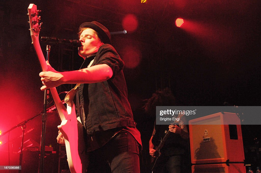 Patrick Stump and Joe Trohman of Fall Out Boy performs on stage at O2 Islington Academy on November 5, 2013 in London, United Kingdom.