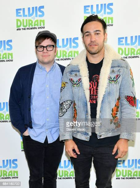 Patrick Stump and Pete Wentz of of rock band 'Fall Out Boy' visit 'The Elvis Duran Z100 Morning Show' at Z100 Studio on May 17 2017 in New York City