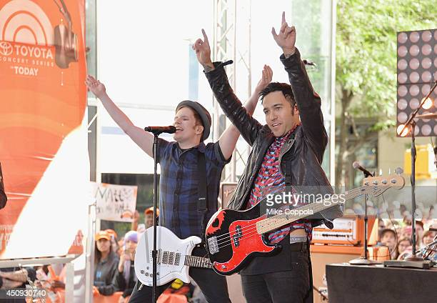 Patrick Stump and Pete Wentz of the band Fall Out Boy perform on NBC's 'Today' at the NBC's TODAY Show on June 20 2014 in New York New York