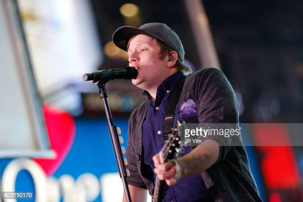 Patrick Stump of Fall Out Boy performs onstage at Elvis Duran's 2017 Summer Bash at the Pennsy Plaza on July 27 2017 in New York City