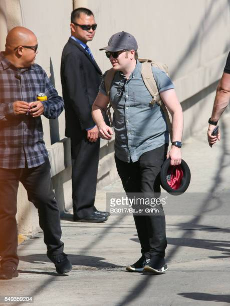 Patrick Stump of music band 'Fallout Boy' is seen at 'Jimmy Kimmel Live' on September 18 2017 in Los Angeles California