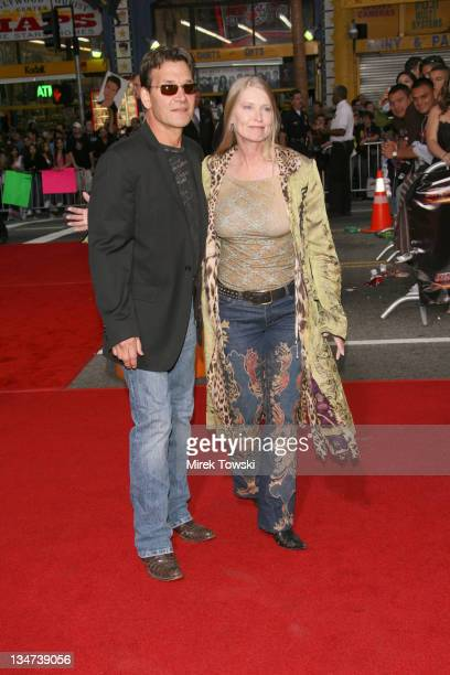 Patrick Swayze and his wife Lisa during Tom Cruise Fan Club Screening of 'Mission Impossible III' in Los Angeles Arrivals at Grauman's Chinese...