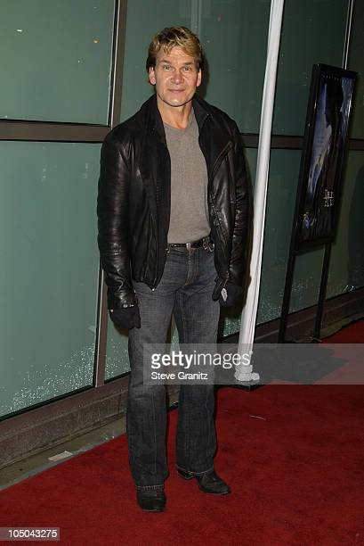 Patrick Swayze during 'Dark Blue' Premiere at Cinerama Dome in Hollywood California United States