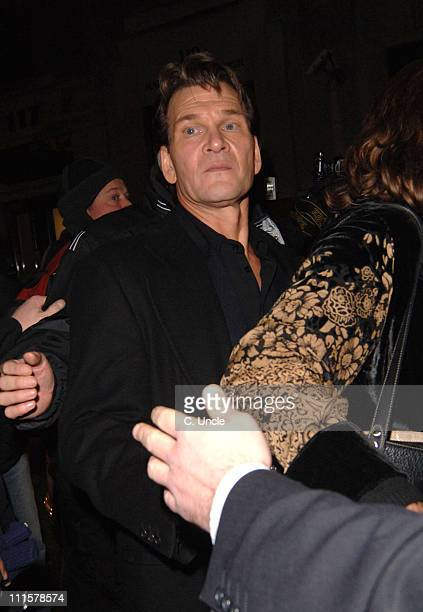 Patrick Swayze during 'Keeping Mum' London Premiere After Party at Floridita 100 Wardour Street in London Great Britain
