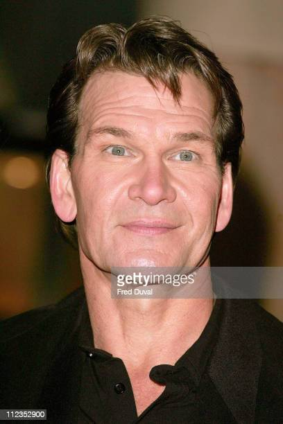 Patrick Swayze during 'Keeping Mum' London Premiere at Vue Cinema Leicester Square in London Great Britain