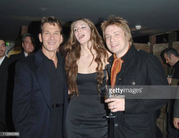 Patrick Swayze Tamsin Egerton and Jamie Oliver during 'Keeping Mum' London Premiere After Party at Floridita in London Great Britain