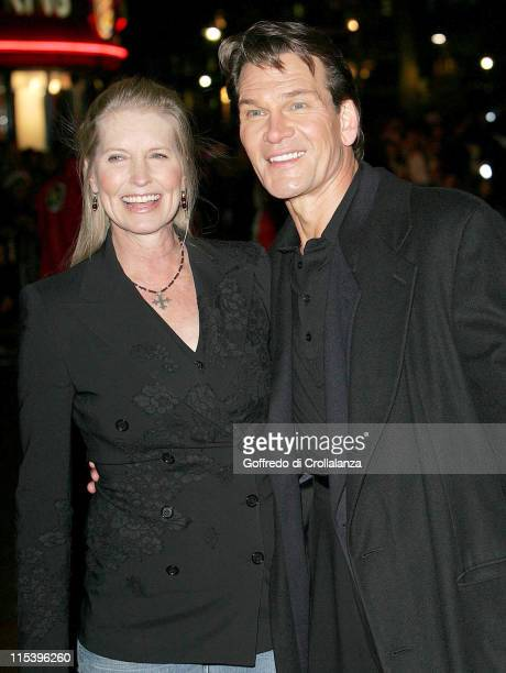 Patrick Swayze with his wife Lisa Niemi during 'Keeping Mum' London Premiere at Vue Cinema Leicester Square in London Great Britain