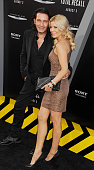 Patrick Tatopoulos and McKenzie Westmore arrive at the Los Angeles Premiere of 'Total Recall' at Grauman's Chinese Theatre on August 1 2012 in...