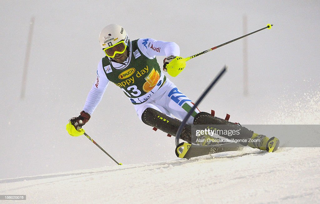 Patrick Thaler of Italy competes during the Audi FIS Alpine Ski World Cup Men's Slalom on November 11, 2012 in Levi, Finland.