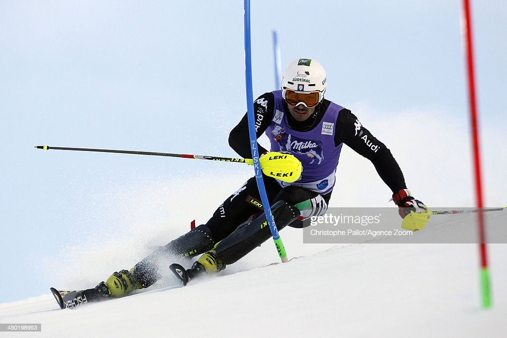 <a gi-track='captionPersonalityLinkClicked' href=/galleries/search?phrase=Patrick+Thaler&family=editorial&specificpeople=807782 ng-click='$event.stopPropagation()'>Patrick Thaler</a> of Italy competes during the Audi FIS Alpine Ski World Cup Men's Slalom on November 17, 2013 in Levi, Finland.