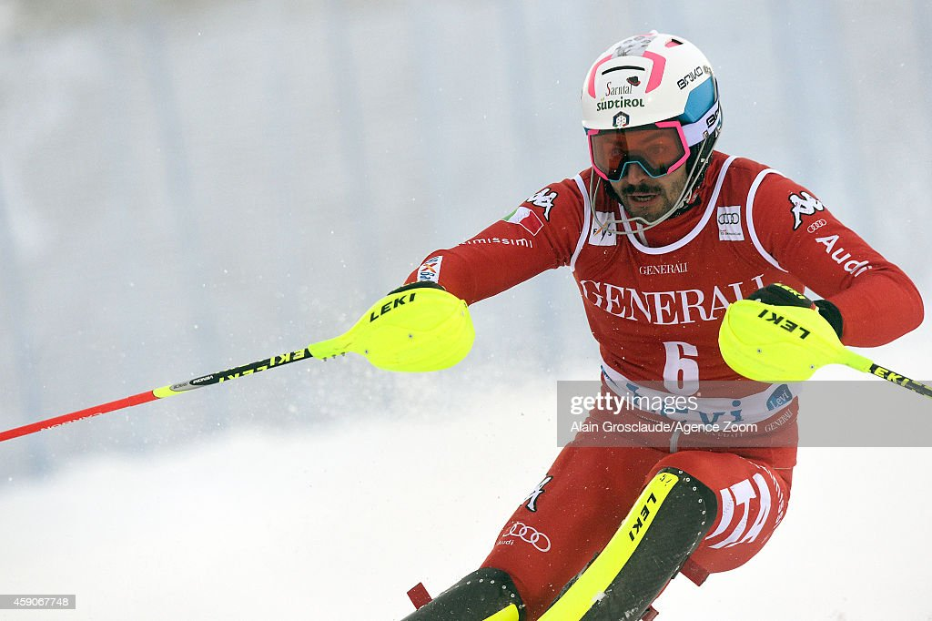 <a gi-track='captionPersonalityLinkClicked' href=/galleries/search?phrase=Patrick+Thaler&family=editorial&specificpeople=807782 ng-click='$event.stopPropagation()'>Patrick Thaler</a> of Italy competes during the Audi FIS Alpine Ski World Cup Men's Slalom on November 16, 2014 in Levi, Finland.