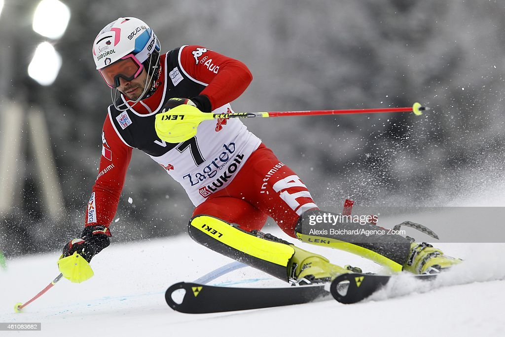 <a gi-track='captionPersonalityLinkClicked' href=/galleries/search?phrase=Patrick+Thaler&family=editorial&specificpeople=807782 ng-click='$event.stopPropagation()'>Patrick Thaler</a> of Italy competes during the Audi FIS Alpine Ski World Cup Men's Slalom on January 06, 2015 in Zagreb, Croatia.