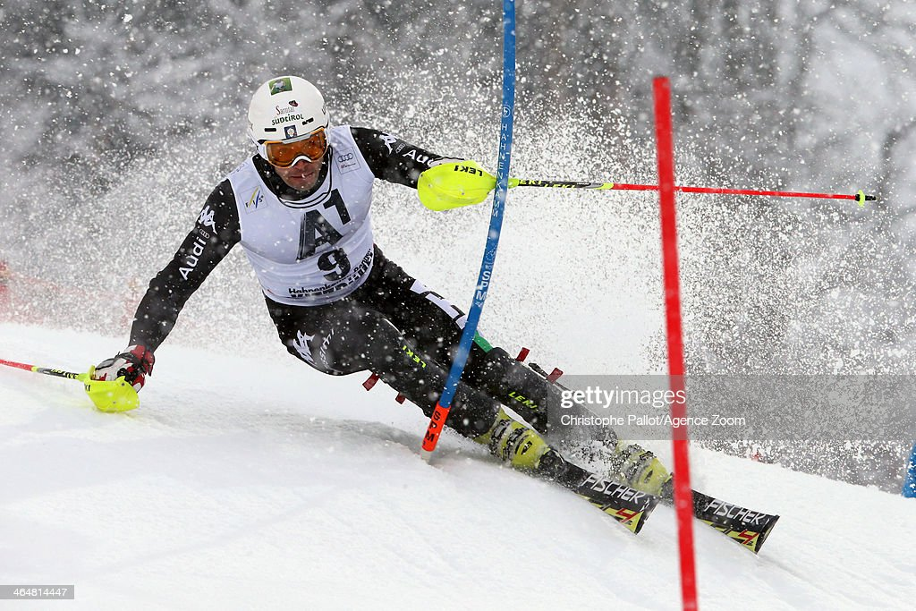 <a gi-track='captionPersonalityLinkClicked' href=/galleries/search?phrase=Patrick+Thaler&family=editorial&specificpeople=807782 ng-click='$event.stopPropagation()'>Patrick Thaler</a> of Italy competes during the Audi FIS Alpine Ski World Cup Men's Slalom on January 24, 2014 in Kitzbuehel, Austria.