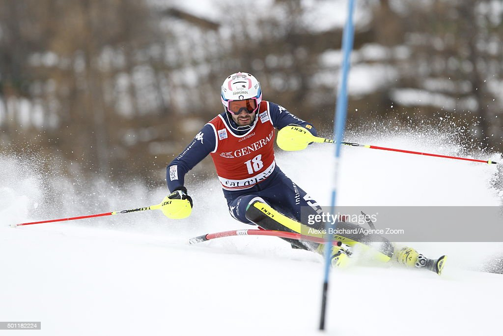 <a gi-track='captionPersonalityLinkClicked' href=/galleries/search?phrase=Patrick+Thaler&family=editorial&specificpeople=807782 ng-click='$event.stopPropagation()'>Patrick Thaler</a> of Italy competes during the Audi FIS Alpine Ski World Cup Men's Slalom on December 13, 2015 in Val d'Isere, France.