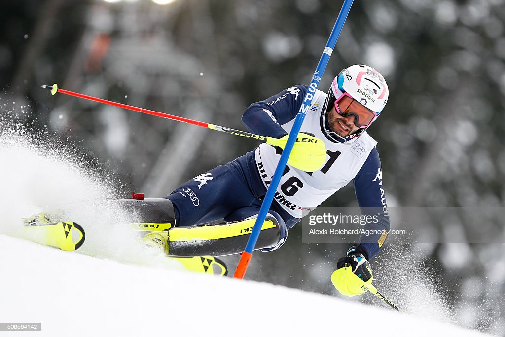 <a gi-track='captionPersonalityLinkClicked' href=/galleries/search?phrase=Patrick+Thaler&family=editorial&specificpeople=807782 ng-click='$event.stopPropagation()'>Patrick Thaler</a> of Italy competes during the Audi FIS Alpine Ski World Cup Men's Slalom on January 24, 2016 in Kitzbuehel, Austria.