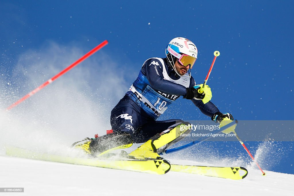 <a gi-track='captionPersonalityLinkClicked' href=/galleries/search?phrase=Patrick+Thaler&family=editorial&specificpeople=807782 ng-click='$event.stopPropagation()'>Patrick Thaler</a> of Italy competes during the Audi FIS Alpine Ski World Cup Finals Men's Slalom and Women's Giant Slalom on March 20, 2016 in St. Moritz, Switzerland.