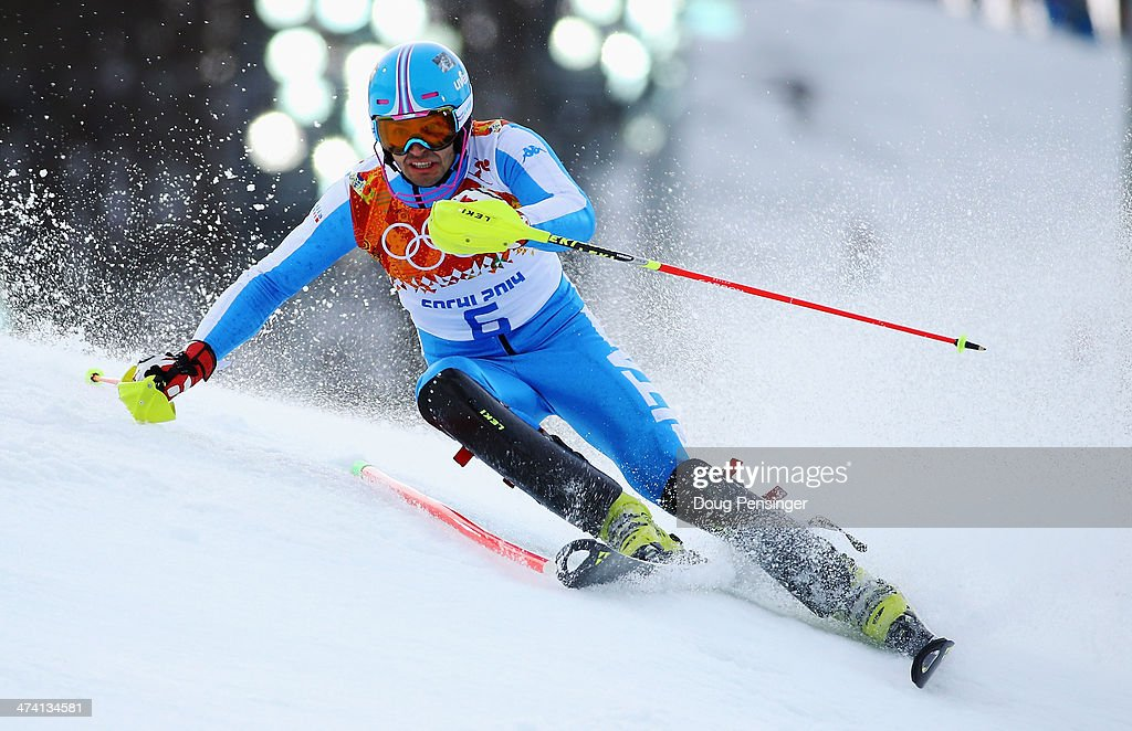 <a gi-track='captionPersonalityLinkClicked' href=/galleries/search?phrase=Patrick+Thaler&family=editorial&specificpeople=807782 ng-click='$event.stopPropagation()'>Patrick Thaler</a> of Italy in action during the Men's Slalom during day 15 of the Sochi 2014 Winter Olympics at Rosa Khutor Alpine Center on February 22, 2014 in Sochi, Russia.