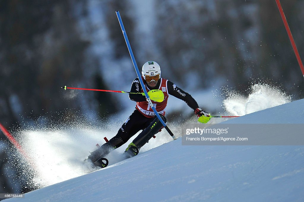 <a gi-track='captionPersonalityLinkClicked' href=/galleries/search?phrase=Patrick+Thaler&family=editorial&specificpeople=807782 ng-click='$event.stopPropagation()'>Patrick Thaler</a> of Italy takes 3rd place during the Audi FIS Alpine Ski World Cup Men's Slalom on December 15, 2013 in Val d'Isere, France.