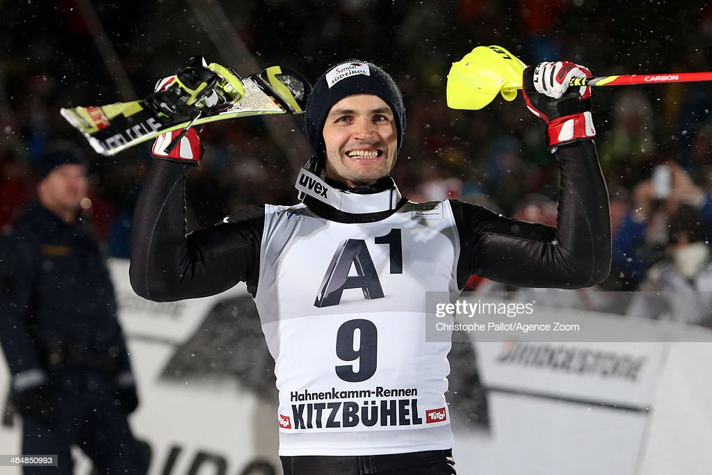 <a gi-track='captionPersonalityLinkClicked' href=/galleries/search?phrase=Patrick+Thaler&family=editorial&specificpeople=807782 ng-click='$event.stopPropagation()'>Patrick Thaler</a> of Italy takes 3rd place during the Audi FIS Alpine Ski World Cup Men's Slalom on January 24, 2014 in Kitzbuehel, Austria.