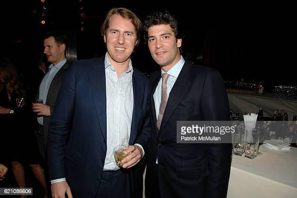 Patrick Thomas and Alejandro Santo Domingo attend TOM SACHS Bronze Collection Party for LEVER HOUSE at Lever House on May 8 2008 in New York City