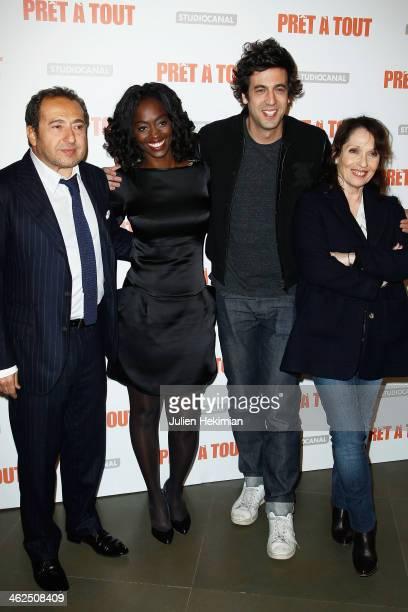 Patrick Timsit Aissa Maiga Max Boublil and Chantal Lauby attend 'Pret A Tout' Paris Premiere at Cinema Gaumont Marignan on January 13 2014 in Paris...