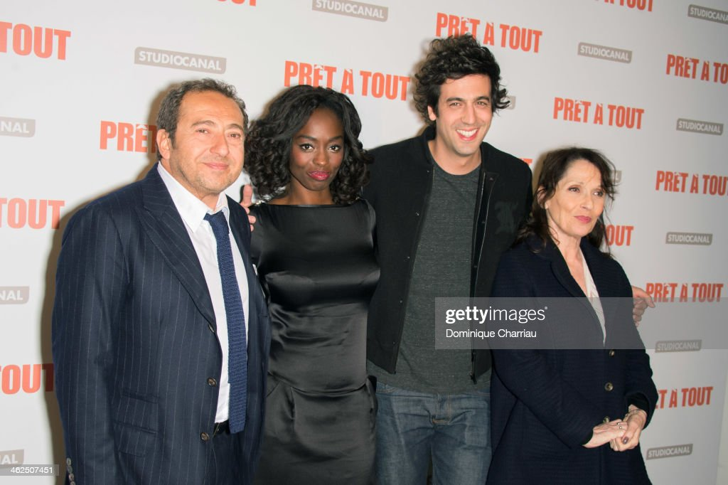 'Pret A Tout' Paris Premiere At Gaumont Champs Elysees Marignan In Paris