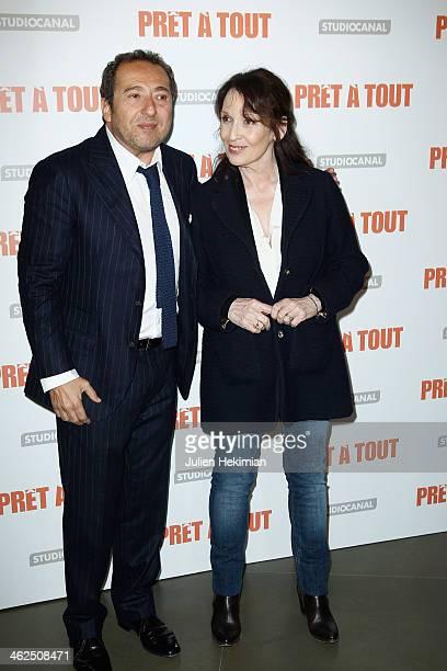 Patrick Timsit and Chantal Lauby attend 'Pret A Tout' Paris Premiere at Cinema Gaumont Marignan on January 13 2014 in Paris France