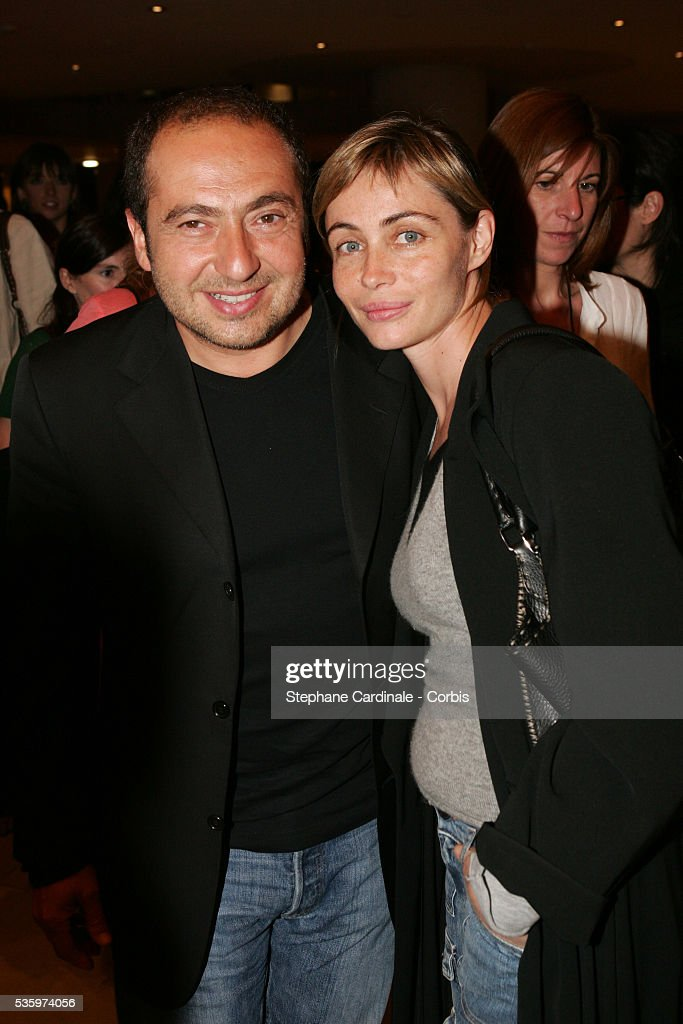 Patrick Timsit and Emmanuelle Beart at the 'Comptoir des Cotonniers' fashion show held in Paris.