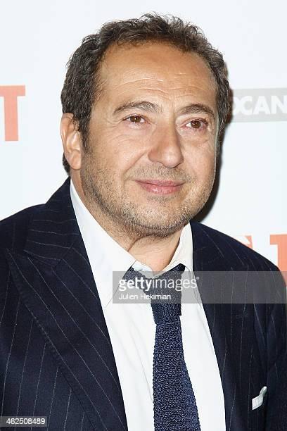 Patrick Timsit attends 'Pret A Tout' Paris Premiere at Cinema Gaumont Marignan on January 13 2014 in Paris France