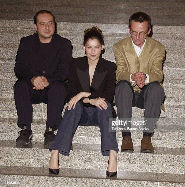 Patrick Timsit Laetitia Casta Patrice Leconte during La Rue des Plaisirs Premiere at Acropolis in Nice France
