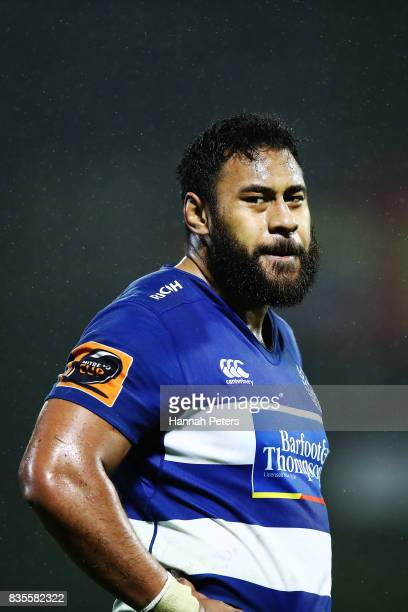 Patrick Tuipulotu of Auckland looks on after losing the round one Mitre 10 Cup match between Counties Manukau and Auckland at ECOLight Stadium on...