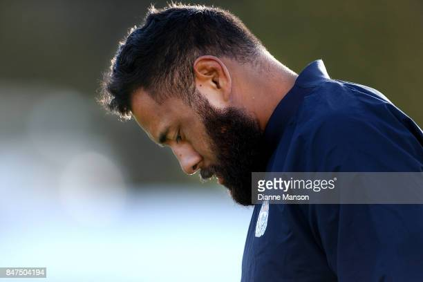 Patrick Tuipulotu of Auckland looks on ahead of the round five Mitre 10 match between Southland and Auckland at Rugby Park Stadium on September 15...
