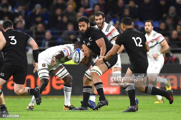 Patrick Tuipulotu of New Zealand during the rugby test match between France and New Zealand at Stade des Lumieres on November 14 2017 in Lyon France