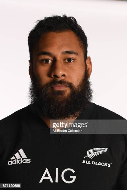 Patrick Tuipulotu of New Zealand poses for a portrait during a New Zealand All Blacks Photocall at the Hotel du Collectionneur on November 6 2017 in...