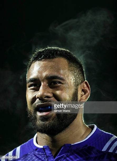 Patrick Tuipulotu of the All Blacks during the practice match between the New Zealand All Blacks squad and Northland at ECOLight Stadium on August 12...