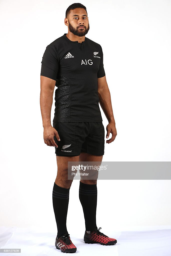 Patrick Tuipulotu of the All Blacks poses for a portrait during a New Zealand All Black portrait session on May 29, 2016 in Auckland, New Zealand.