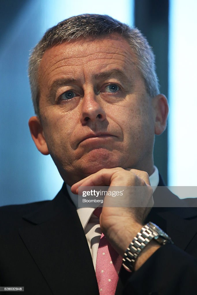 Patrick Upfold, chief financial officer of Macquarie Group Ltd., attends a news conference in Sydney, Australia, on Friday, May 6, 2016. Macquarie said full-year profit climbed 29 percent to a record as it flagged lower performance fees from its funds-management unit and signaled that subdued markets may weigh on current-year earnings. Photographer: Brendon Thorne/Bloomberg via Getty Images