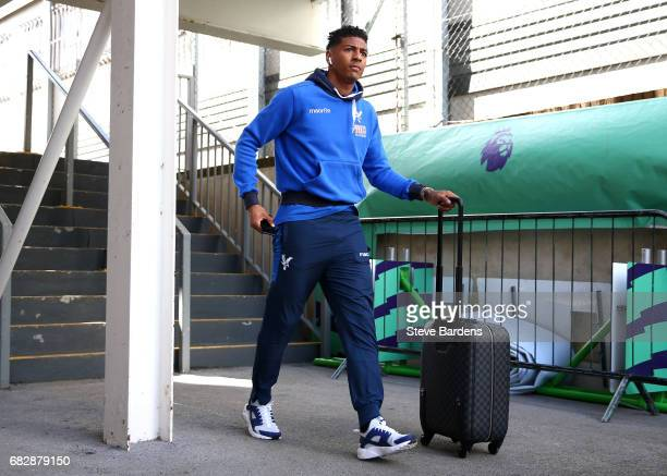 Patrick van Aanholt of Crystal Palace arrives at the stadium prior to the Premier League match between Crystal Palace and Hull City at Selhurst Park...