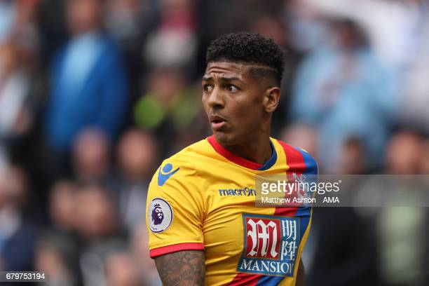 Patrick van Aanholt of Crystal Palace during the Premier League match between Manchester City and Crystal Palace at Etihad Stadium on May 6 2017 in...