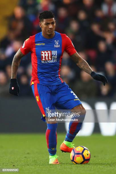 Patrick van Aanholt of Crystal Palace in action during the Premier League match between Crystal Palace and Sunderland at Selhurst Park on February 4...