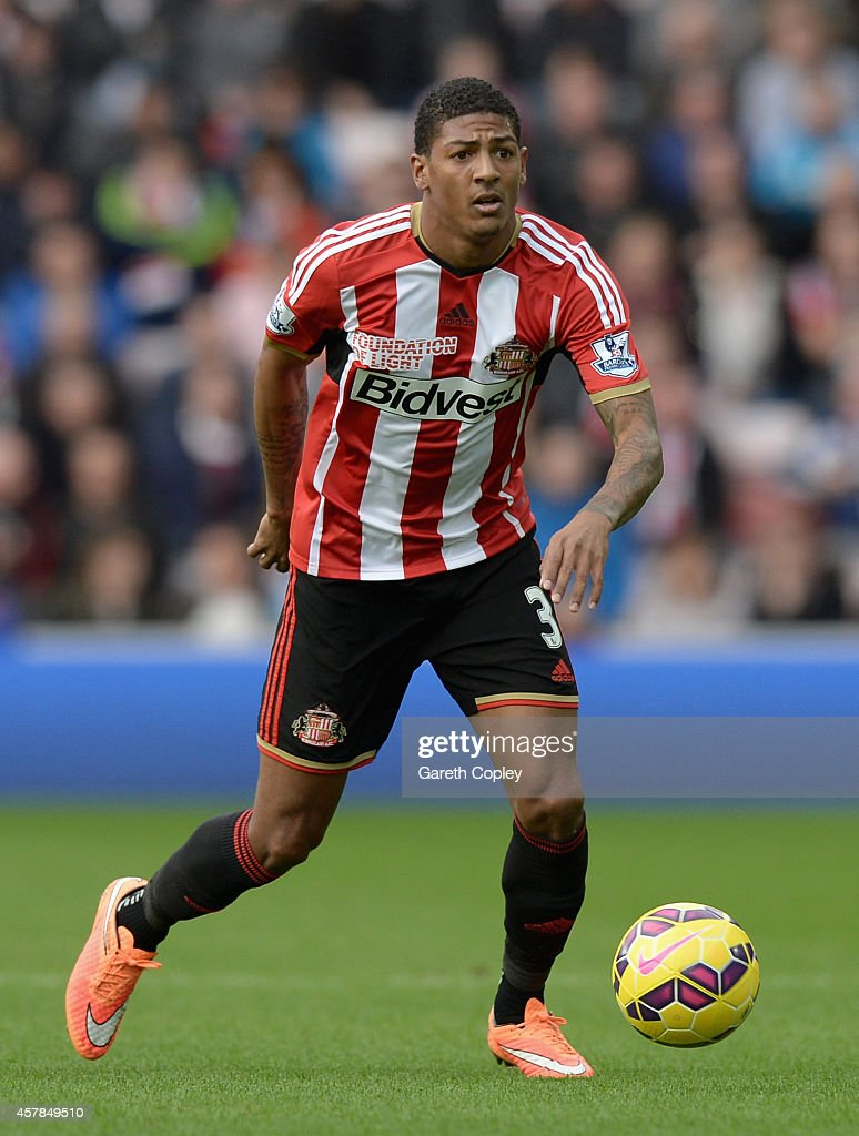 Patrick van Aanholt of Sunderland during the Barclays Premier League match between Sunderland and Arsenal at the Stadium of Light on October 25 2014...