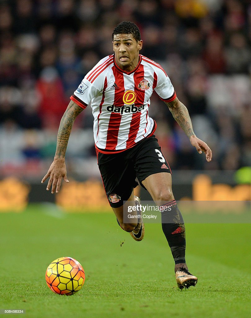 Patrick van Aanholt of Sunderland during the Barclays Premier League match between Sunderland and Bournemouth at The Stadium of Light on January 23...