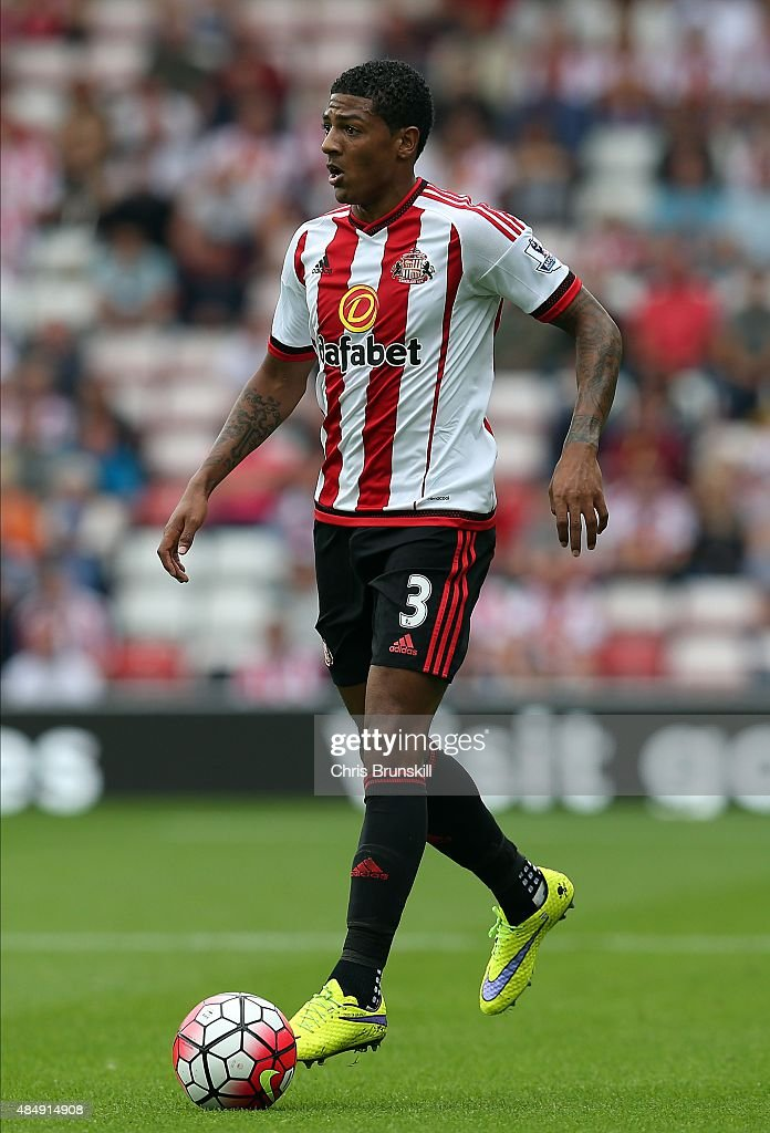 Patrick van Aanholt of Sunderland in action during the Barclays Premier League match between Sunderland and Swansea City at the Stadium of Light on...