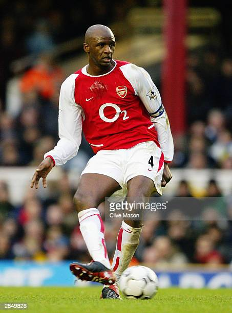 Patrick Vieira of Arsenal passes the ball during the FA Barclaycard Premiership match between Arsenal and Wolverhampton Wanderers at Highbury on...