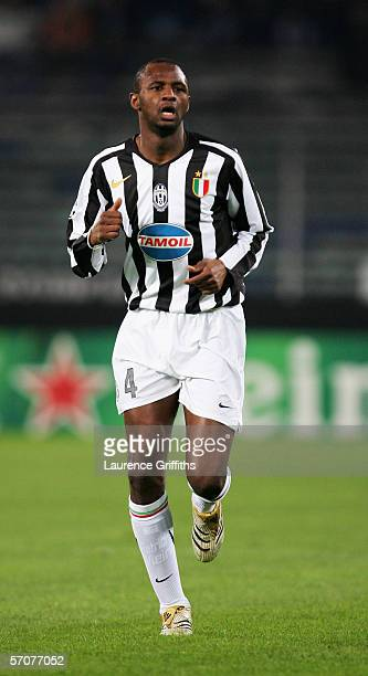 Patrick Vieira of Juventus in action during the UEFA Champions League First KnockOut Round Second Leg match between Juventus and Werder Bremen at the...