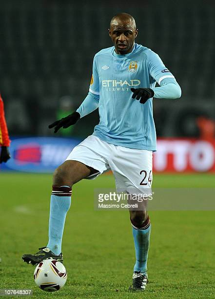 Patrick Vieira of Manchester City in action during the UEFA Europa League group A match between Juventus FC and Manchester City at Stadio Olimpico di...
