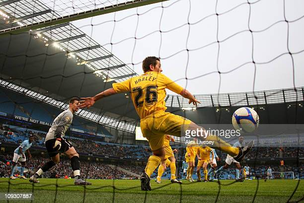 Patrick Vieira of Manchester City scores the second goal during the FA Cup sponsored by EOn 4th Round replay match between Manchester City and Notts...